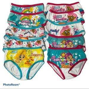 4/$20 Toddler Girls Bubble Guppies underwear
